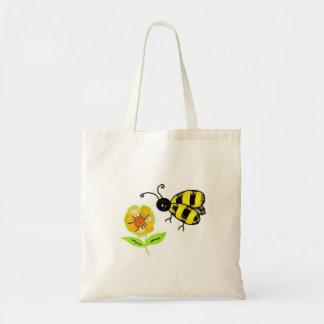 黄色い花とののまわりに トートバッグ