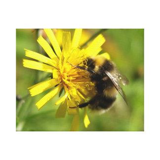 黄色い花のかわいいのまわりに キャンバスプリント