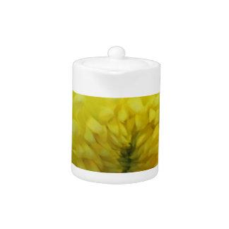 黄色い花のティーポット