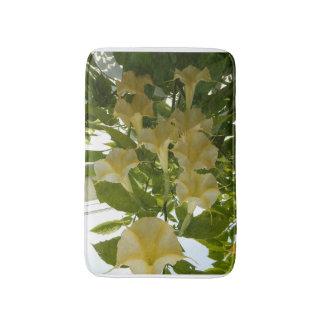 黄色い花のバス・マット バスマット
