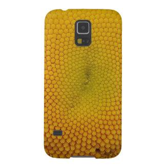 黄色い花の中心 GALAXY S5 ケース