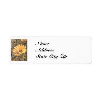 黄色い花の吠え声、NameAddressState都市ジッパー ラベル
