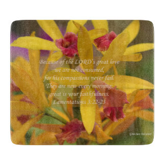 黄色い花の哀悼-まな板 カッティングボード
