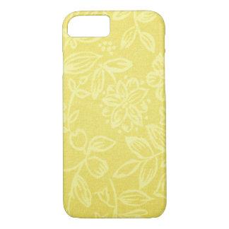 黄色い花の携帯電話の箱 iPhone 8/7ケース