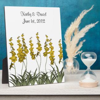 黄色い花の結婚 フォトプラーク