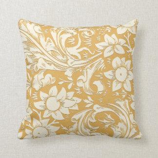 黄色い花の装飾的でエレガントな素朴 クッション
