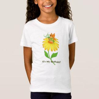 黄色い花の誕生日の妖精の把握ギフト Tシャツ