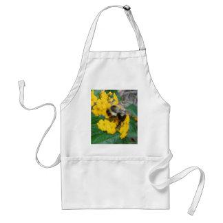 黄色い花の黄色および黒い蜂 スタンダードエプロン