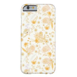 黄色い花模様 BARELY THERE iPhone 6 ケース
