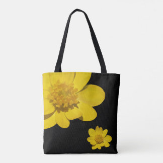 黄色い花、写真撮影、花柄、夏 トートバッグ