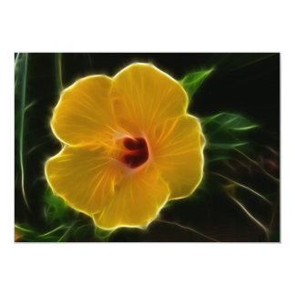 黄色い花Hibicus カード