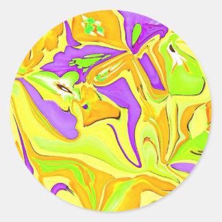 黄色い芸術のスクラップブック作りのステッカー ラウンドシール