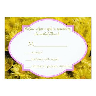 黄色い菊 カード