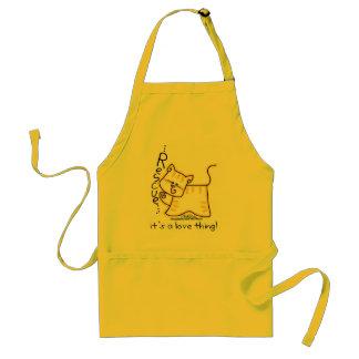 黄色い虎猫の救助…それは愛事です! スタンダードエプロン