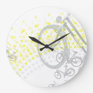 黄色い虹 ラージ壁時計
