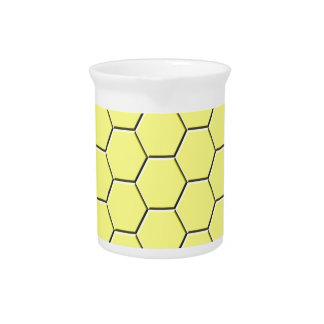 黄色い蜜蜂の巣パターン ピッチャー