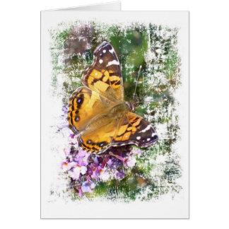 黄色い蝶 グリーティングカード