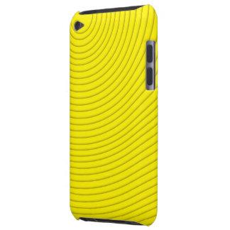 黄色い螺線形ラインipod touch barely there iPod ケース