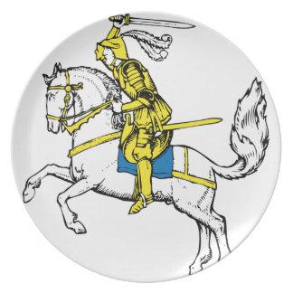 黄色い装甲の騎士 プレート