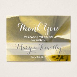 黄色い調子の芸術的な花-ありがとう 名刺