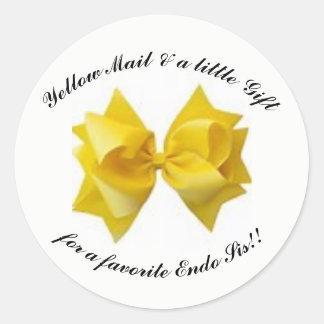 黄色い郵便弓 ラウンドシール