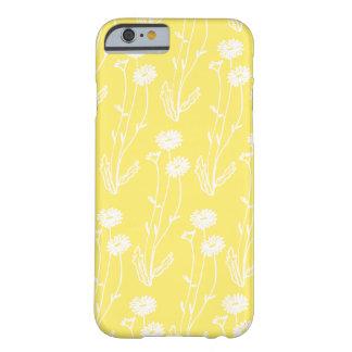 黄色い野生の花のかわいい白 BARELY THERE iPhone 6 ケース