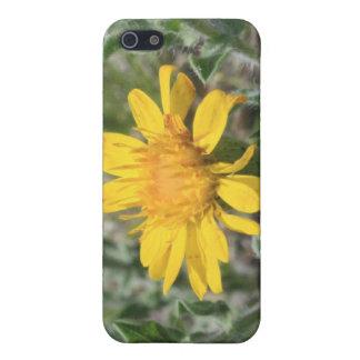 黄色い野生の花のiPhone 4/4s Speckの箱 iPhone 5 ケース