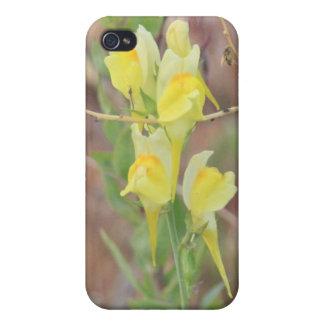 黄色い野生の花4/4s iPhone 4/4Sケース