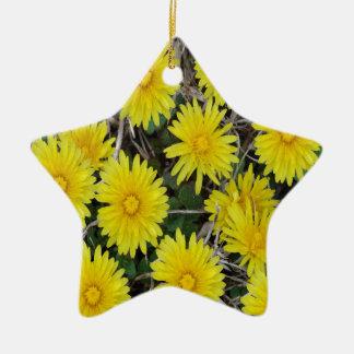 黄色い野生花 セラミックオーナメント