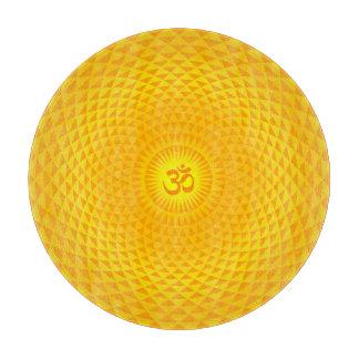 黄色い金日曜日のはすの花の黙想の車輪OM カッティングボード