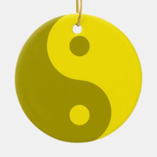 黄色い陰陽のスピリチュアルの記号 セラミックオーナメント