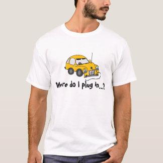 黄色い電気自動車の… Tシャツ