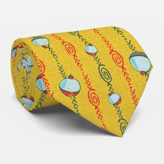 黄色い魚釣りのBobberのタイ オリジナルネクタイ