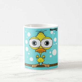 黄色い鳥11のozのクラシックで白いマグ コーヒーマグカップ