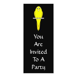 黄色い鳥。 カナリア。 黒 カード