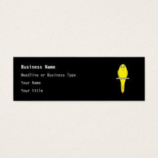 黄色い鳥。 カナリア。 黒 スキニー名刺