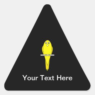 黄色い鳥。 カナリア。 黒 三角形シール