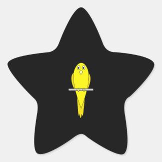 黄色い鳥。 カナリア。 黒 星シール