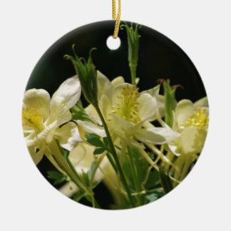 黄色い鳩の花 セラミックオーナメント