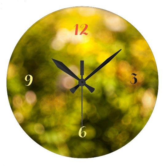 黄色い《写真》ぼけ味 ラージ壁時計