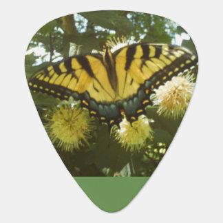 黄色い(昆虫)オオカバマダラ、モナークのギターピック ギターピック