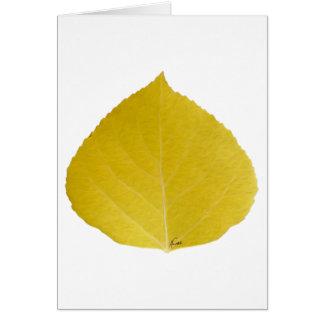 黄色い《植物》アスペンの葉#5 カード