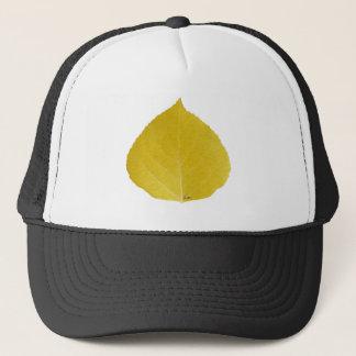 黄色い《植物》アスペンの葉#5 キャップ