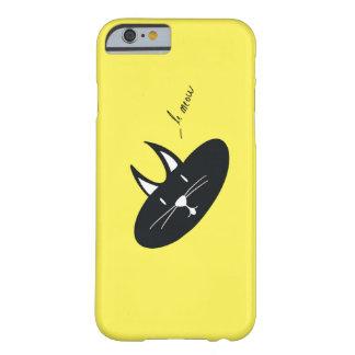 黄色い(色はカスタマイズ可能です) IPhone6ケースの猫 Barely There iPhone 6 ケース