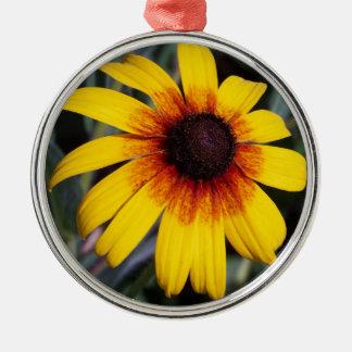 黄色いConeflower メタルオーナメント