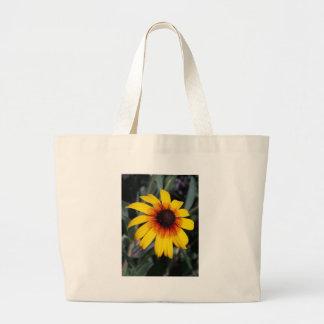 黄色いConeflower ラージトートバッグ