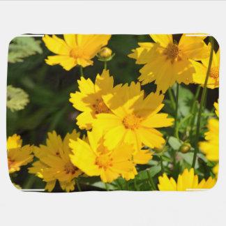 黄色いCoreopsis ベビー ブランケット