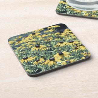 黄色いEchinaceaの花 コースター