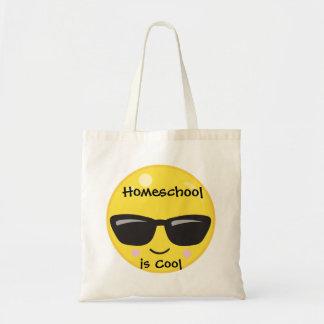 黄色いEmoji Homeschoolはクールです トートバッグ