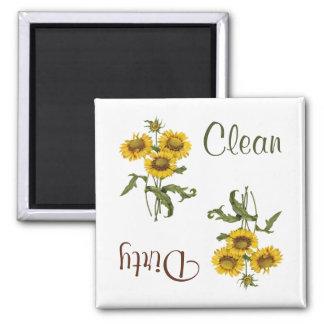 黄色いGaillardaによっては食洗機の磁石が開花します マグネット